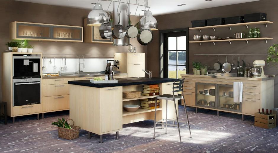 Meble w kolorze jasnego Kuchnia w stylu loft Tak urządzisz modne wnętrz