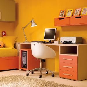 Ustawienie biurka przodem do ściany to niezwykle praktyczne rozwiązanie. Można zawiesić nad nim szafkę lub półkę, na której dziecko będzie trzymać np. książki. Fot. Dearkids.