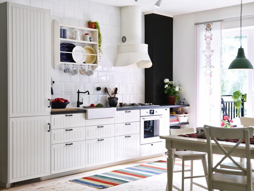 Piękna kuchnia w Meble na jedną ścianę 15 pomysłów   -> Kuchnia Uchwyty Ikea