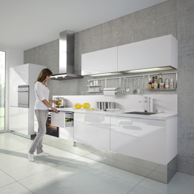 Meble na jedną ścianę. 15 pomysłów na aneks kuchenny