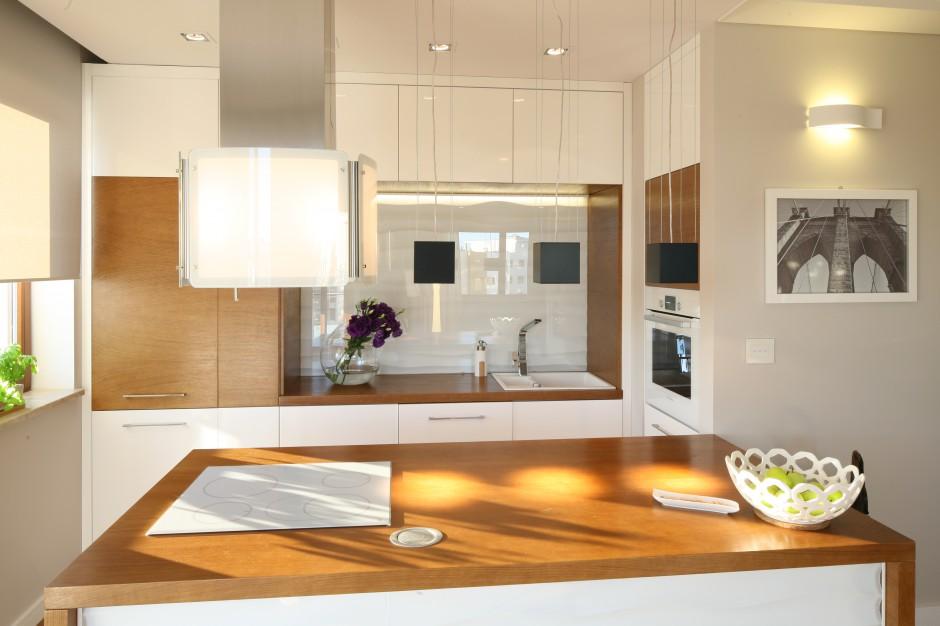 Drewniany blat jest Modna kuchnia wybierz do niej   -> Kuchnia Drewniany Blat