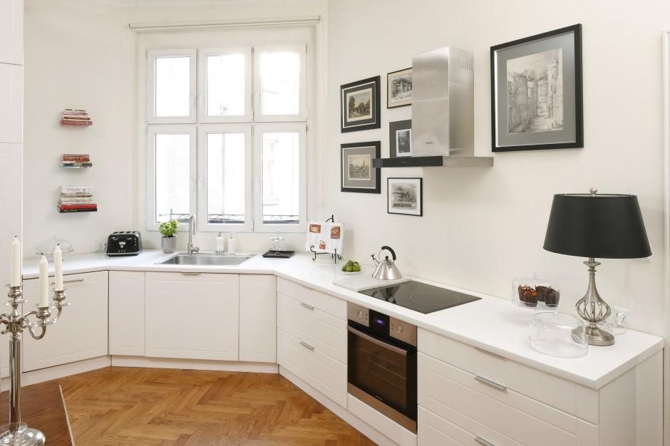 Biały blat z Corianu Modna kuchnia wybierz do niej blat -> Biala Kuchnia Drewniany Blat Jakie Plytki