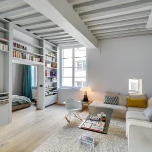 Małe mieszkanie w Paryżu: jasne i niezwykle urokliwe