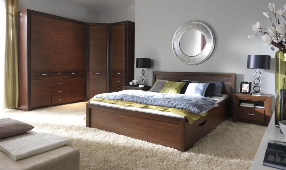 ciemne meble dobrze pod�oga w sypialni deski panele