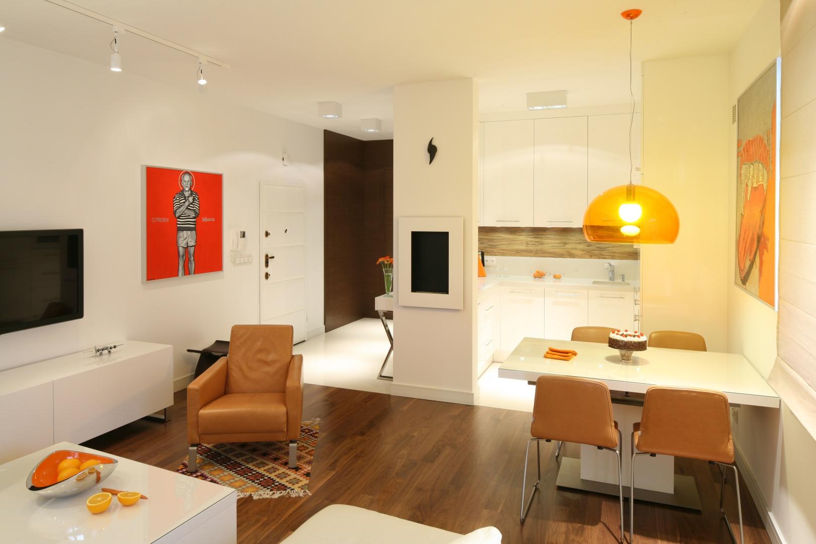 Фото дизайн квартирной столовой и гостиной
