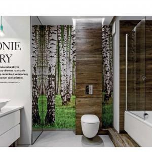 Sposób na urządzenie łazienki w modnych kolorach natury.