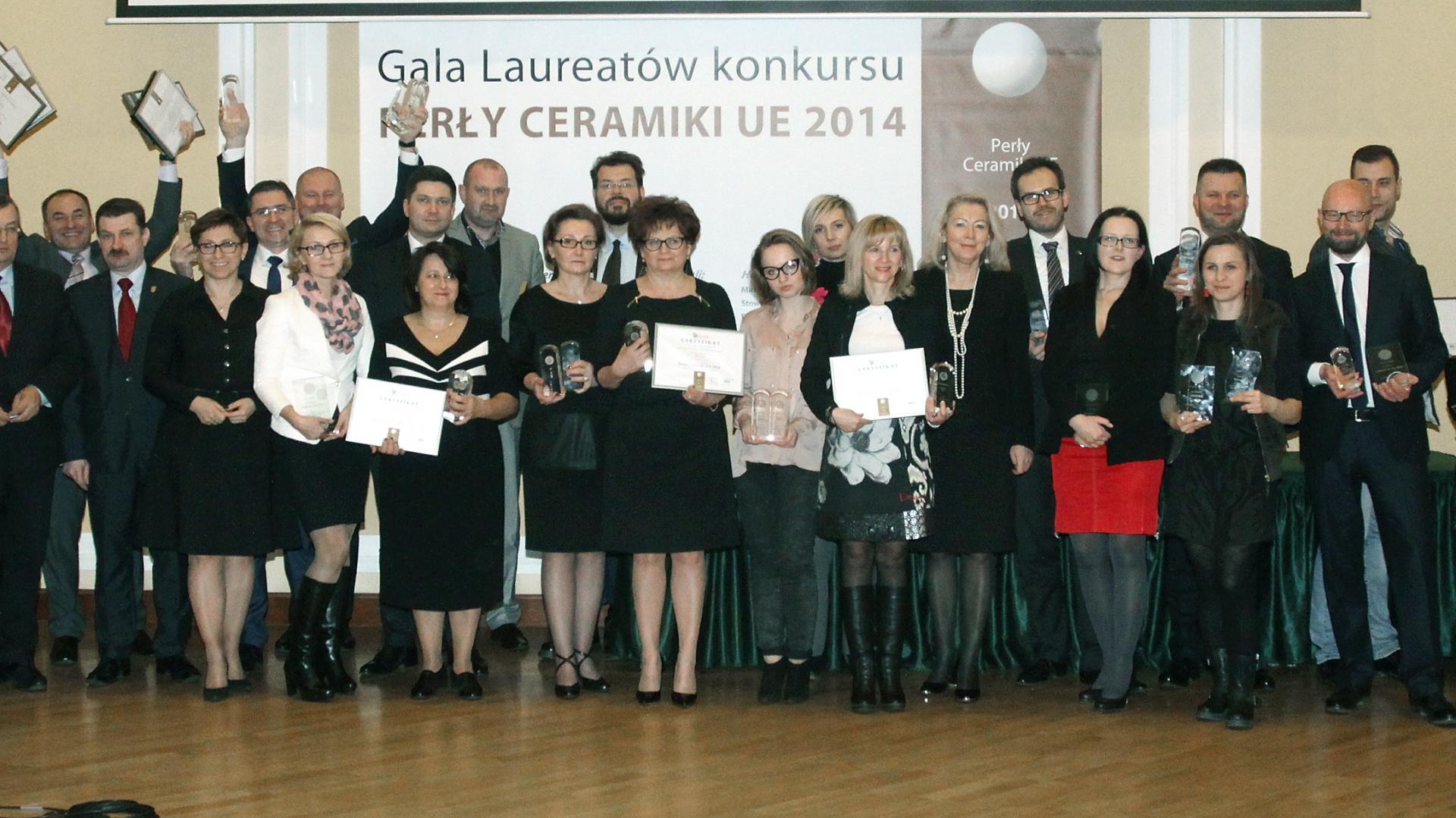 Gala laureatów konkursu Perły Ceramiki UE 2014. Fot. Archiwum