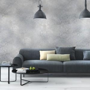 Innowacyjny efekt aluminium na ścianie uzyskamy stosując farbę Argento marki Primacol Decorative. Surowy połysk metalu sprawdzi się szczególnie w minimalistycznych wnętrzach. Fot. Unicell Poland.