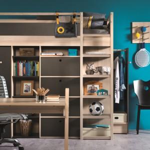 Do pokoju ucznia wystarczy dodać biurko aby zapewnić dziecku wygodę i najkorzystniejsze warunki do nauki, jak również odpoczynku i zabawy. Fot. Meble Vox.