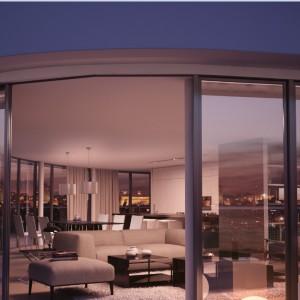 Najbardziej luksusowy 250-metrowy penthouse z półokrągłym tarasem i widokiem na Park Słowackiego. Przyszły właściciel zapłaci za niego 5 mln złotych brutto. Fot. Wings Properties.