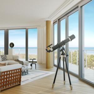 Największy i najdroższy penthouse w kompleksie Dune Resort w Mielnie kosztuje 22 tys. brutto za metr kwadratowy. Latem ubiegłego roku firma Firmus sprzedała mniejszy penthouse w tym samym kompleksie za 3,5 mln złotych brutto. Fot. Firmus Group.
