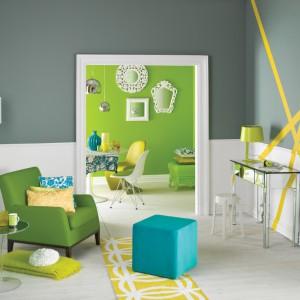 Ściany w salonie. Postaw na kolory wiosny