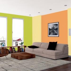 Zielenie, pomarańcze i żółcienie to wiosna w pełnej krasie. Poza tym świetnie prezentują się w salonie. Fot. Jedynka.