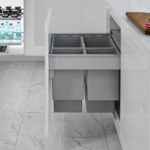 Funkcjonalna kuchnia: sortowniki odpadów firmy Peka do zabudowy