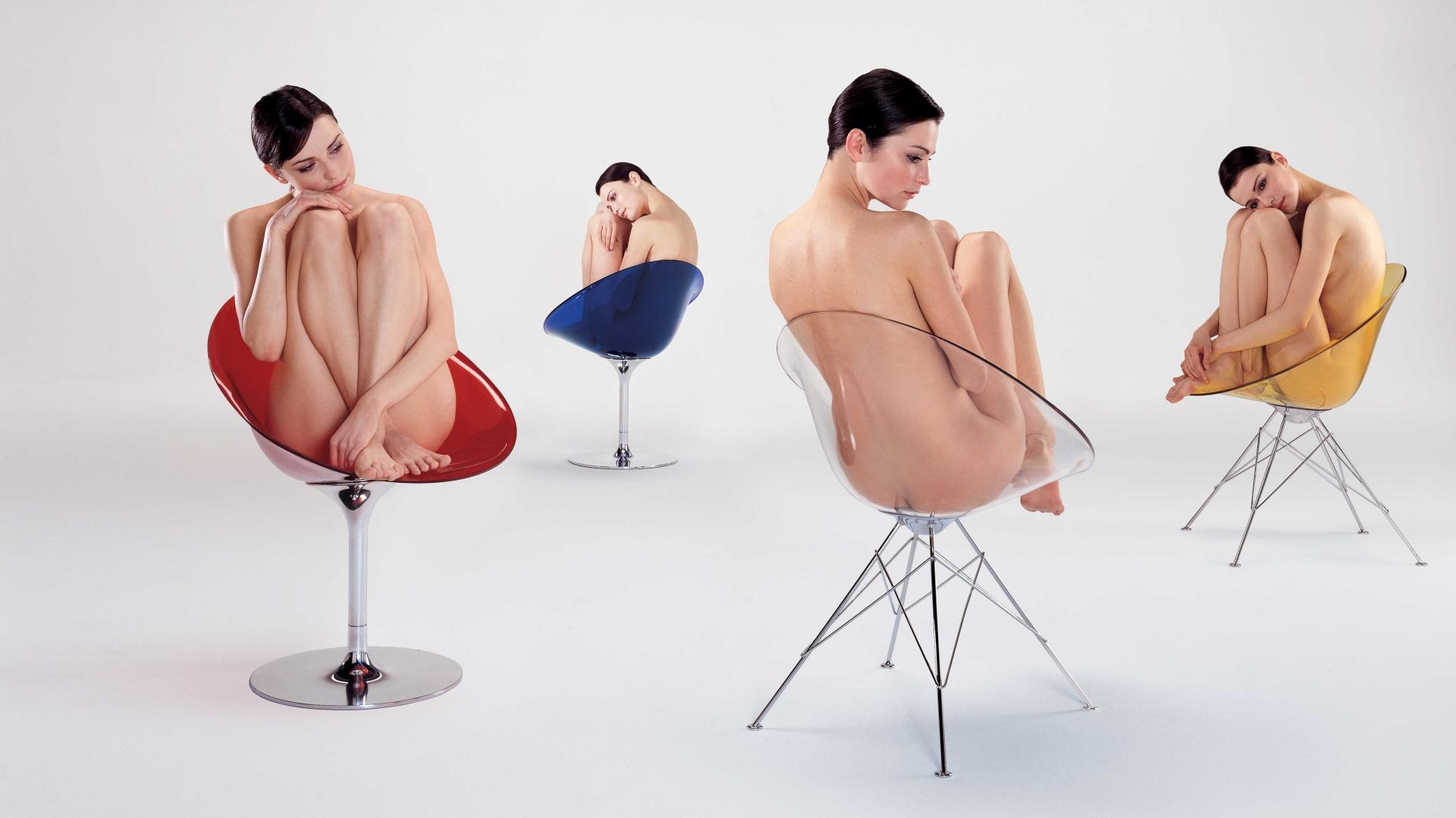 Wyprofilowane, wygodne siedzisko może być wsparte na jednej nodze, rolkach lub na charakterystycznych czterech stalowych nogach. Fot. Kartell.