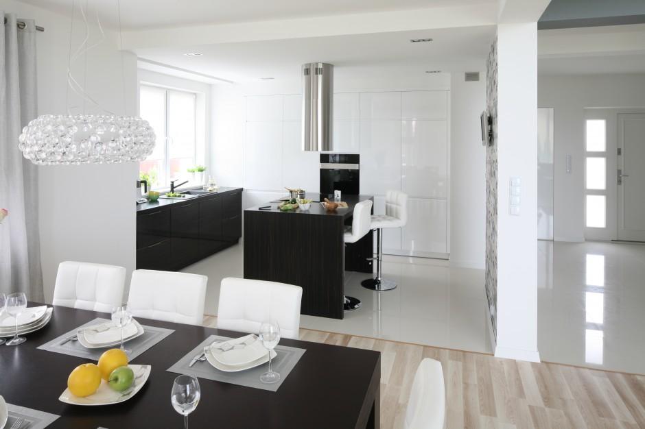 Głęboki, egzotyczny odcień Czarno biała kuchnia 15   -> Kuchnia Czrno Szara