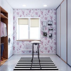 Na parterze znalazły się wszelkie pomieszczenia niezbędne do prowadzenia domu. Tutaj pralnia. Projekt i wizualizacje: Studio projektowe Geometrium.