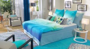 Co zagwarantuje miłe, kolorowe sny? Sypialnia urządzona z wykorzystaniem wyrazistych barw.