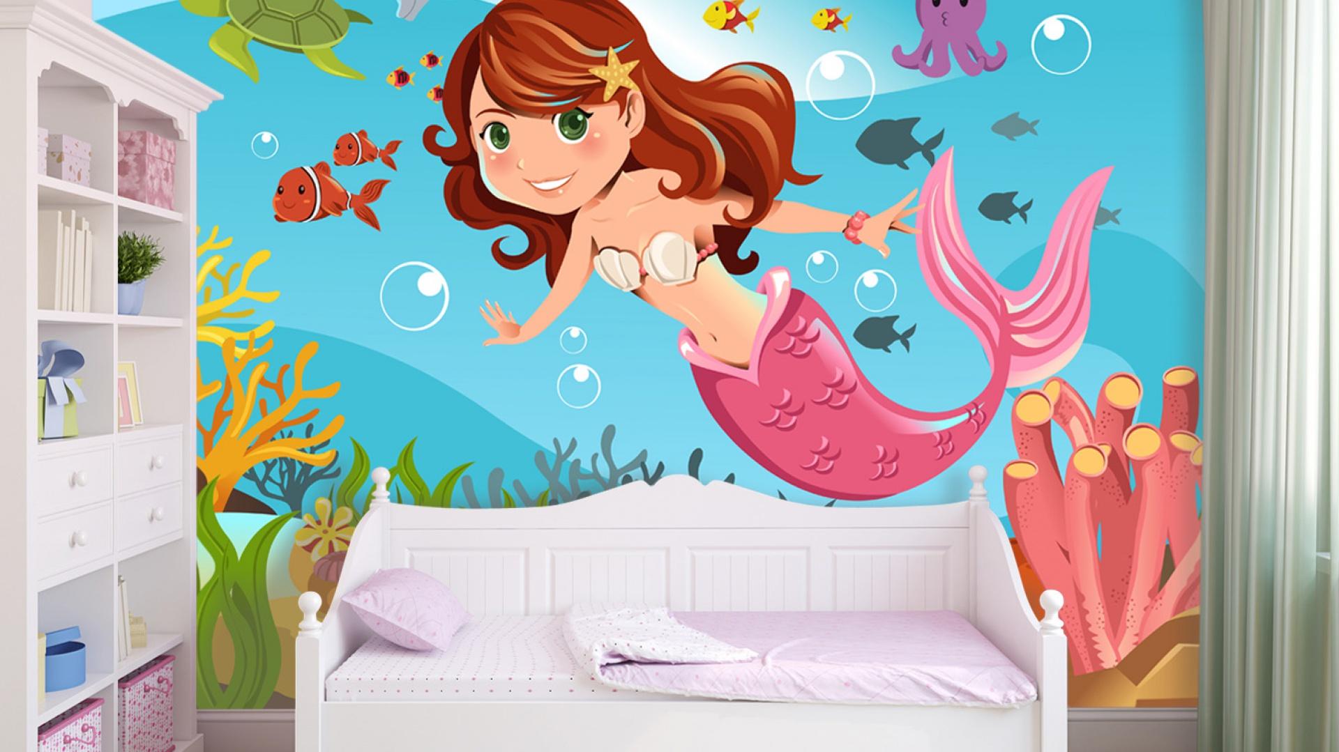 Kolorowa fototapeta doskonale ożywi pokój dziecka. Fototapeta jest samoprzylepna, więc i łatwa w montażu. Dostępna w ofercie sklepu Grafdeco. Fot. Grafdeco.
