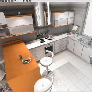 Kuchnia - widok z programu. Fot. CAD Projekt.