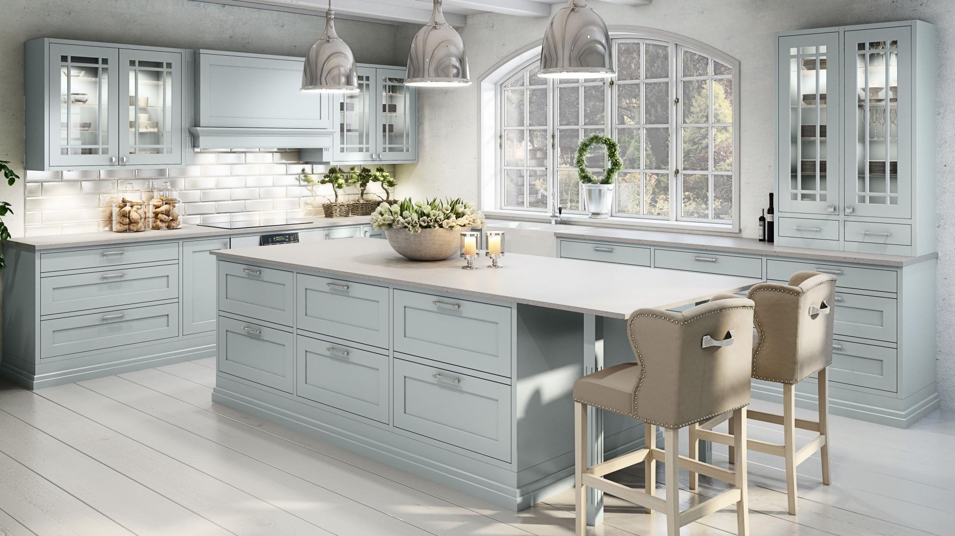 Klasyczne formy pięknie Najpiękniejsze kuchnie w stylu klasycznym  Stro   -> Kuchnie Prowansalskie Aranżacje