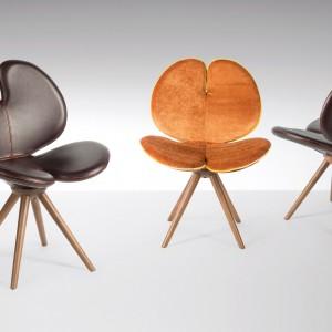Włoska marka VG New Trend pozostaje wierna swojej nazwie i wyznacza całkowicie nowe trendy w meblarstwie, za sprawą projektów takich jak krzesło Panse o niesamowitym kształcie. Fot. VG New Trend.