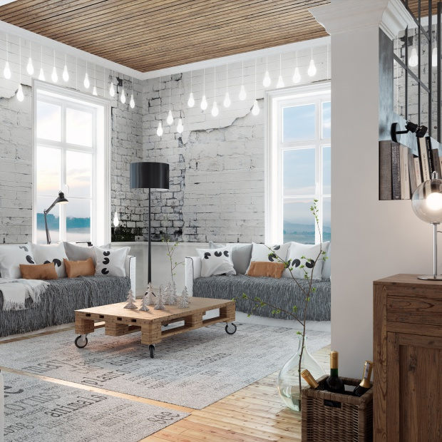 12 pomysłów na ścianę w salonie