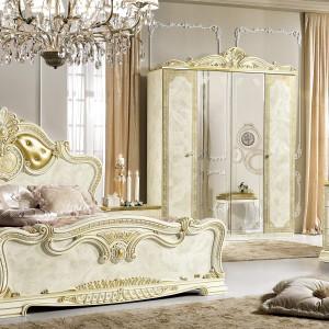 Stylowa sypialnia Leonardo dostępna w ofercie firmy Rad-Pol. Fot. Mega Meble.