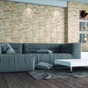 Kamień naścienny to materiał ekskluzywny i bardzo wyrazisty. Canella świetnie nadaje się zarówno do stosowania wewnątrz, jak zewnątrz budynków. Cena: ok. 59 zł (opakowanie). Fot. Cerrad.
