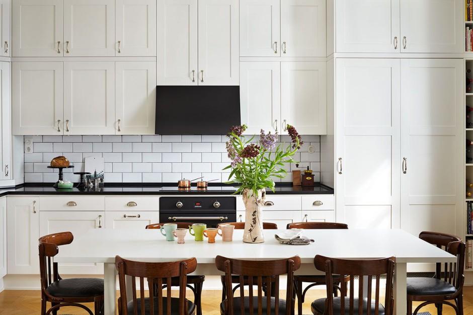 Białe meble kuchenne w Biała kuchnia z czarnym blatem   -> Kuchnia Biala Z Czarnym