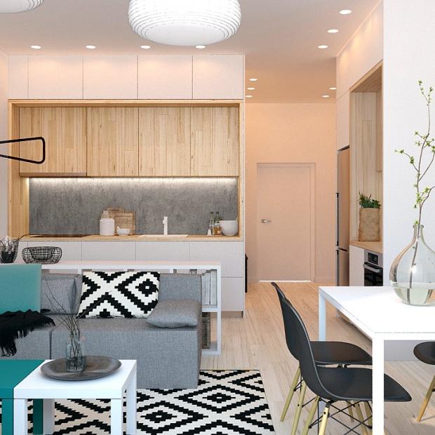 Piękna aranżacja małego mieszkania