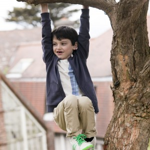 Wspinanie się po drzewach podnosi sprawność fizyczną malucha. Podczas takiego przyjemnego wysiłku dotlenia się też organizm. Fot. Dunnes Stores.