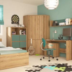 Rozkładane łóżko z kolekcji Hobby firmy Meble Wójcik po rozłożeniu zapewnia zdrowy sen dwójce dzieci. Kolor: dąb dziki. Cena: 649 zł. Fot. Meble Wójcik.