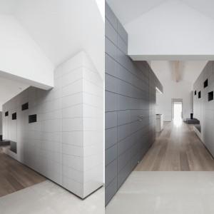 Eternitowe płyty nawiązują do powojennej, austriackiej architektury. Projekt: Destilat Design Studio. Fot. Monika Nguyen.