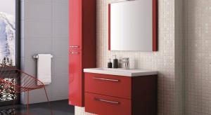 Czerwone a może fioletowe? Kolorowe meble w łazience sprawdzą się znakomicie. Pięknie ożywią przestrzeń i i dodadzą nam energii na cały dzień.