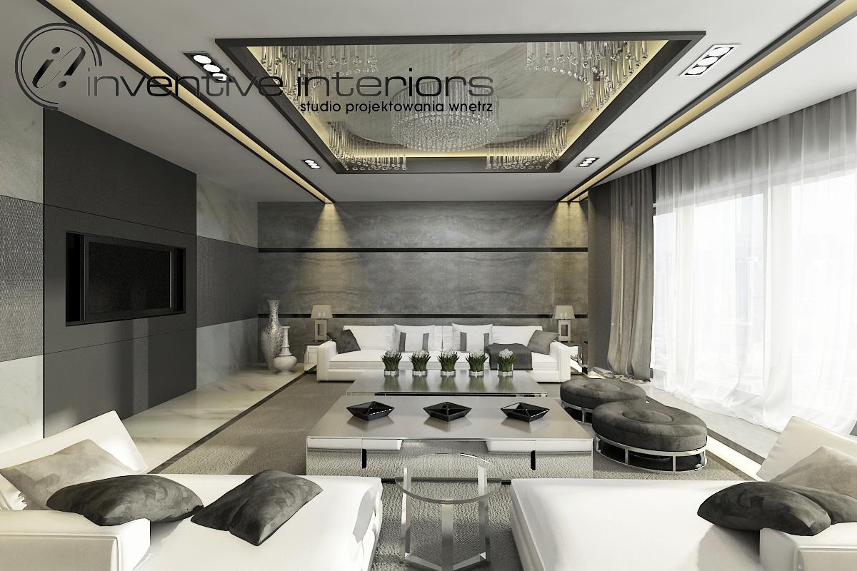 Projekt eleganckiego salonu Inventive Interiors.