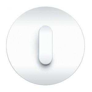 Seria Berker R.classic. Ramka z tworzywa w kolorze białym, klawisz z tworzywa w białym połysku. Fot. Hager.