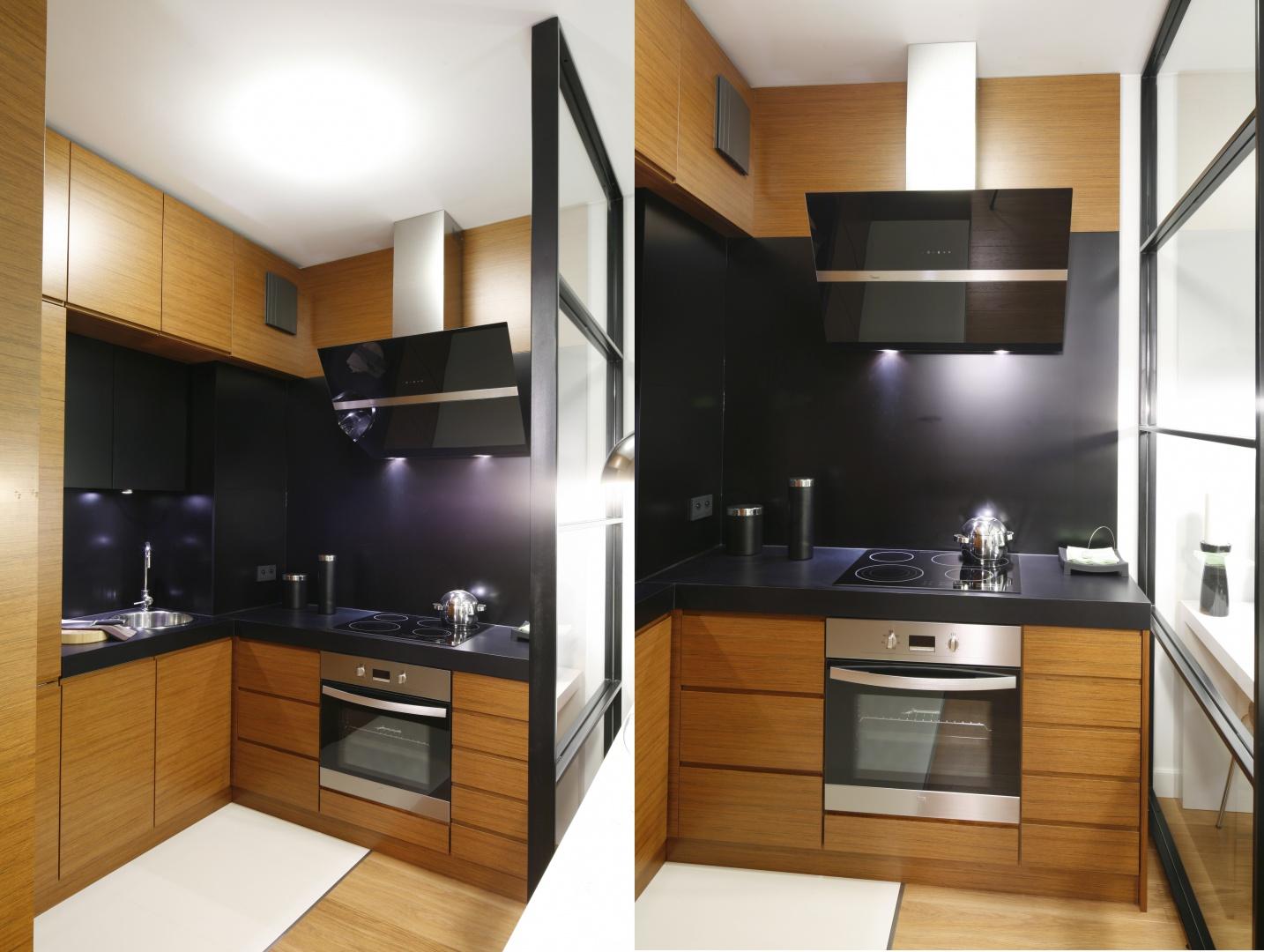 Bardzo małą kuchnię w Kuchnia otwarta na salon Aranżacje, które cię zai