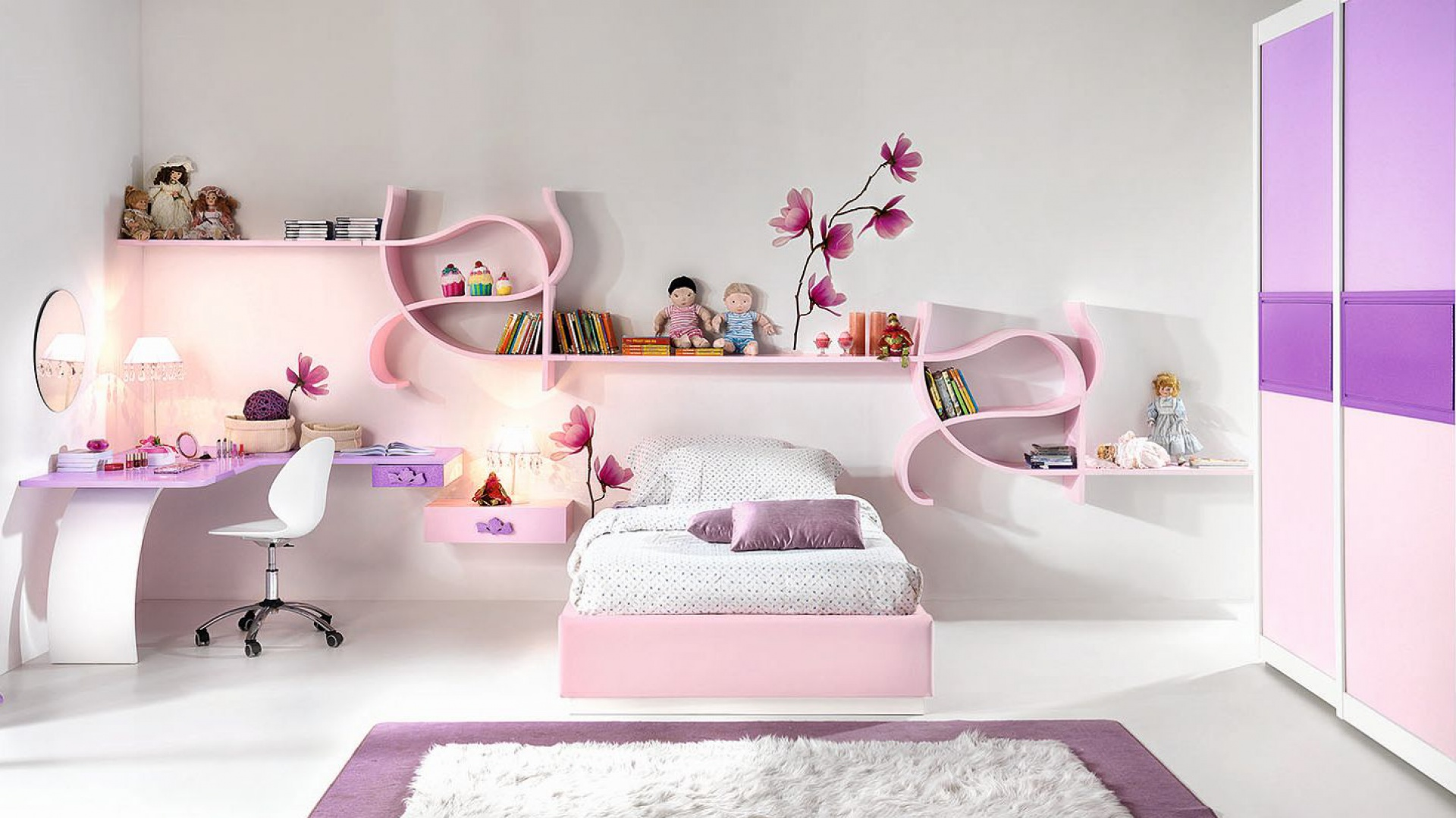 p ka cienna o finezyjnym 12 pomys w na pok j dziewczynki. Black Bedroom Furniture Sets. Home Design Ideas