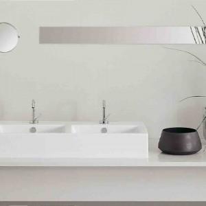 Umywalka z kolekcji Loft o prostym, geometrycznym kształcie. Fot. Hidra.