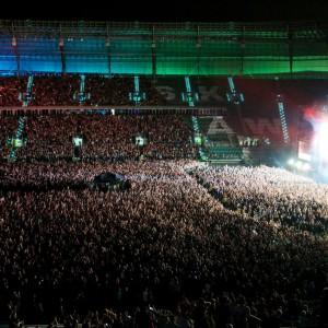 Przed wielotysięczną publicznością występowały tutaj takie gwiazdy międzynarodowej muzyki, jak George Michael, Symphonica, Queen czy Linkin Park. Fot. Stadion Wrocław.