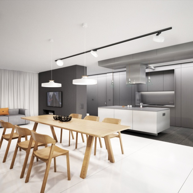 Wnętrze industrialne czyli ciekawe połączenie betonu i drewna
