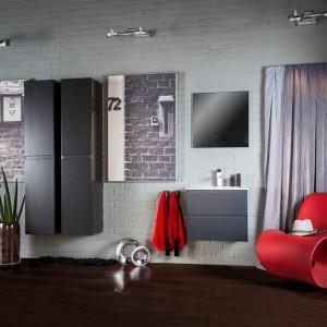Meble z kolekcji Guadix uzupełnia modernistyczna umywalka Plan z funkcjonalnymi blatami bocznymi. Fot. Defra.