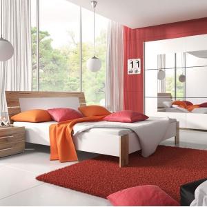 Sypialnia Beta to połączenie dekoru San Remo jasne oraz barwy białej. Fot. Helvetia Wieruszów.