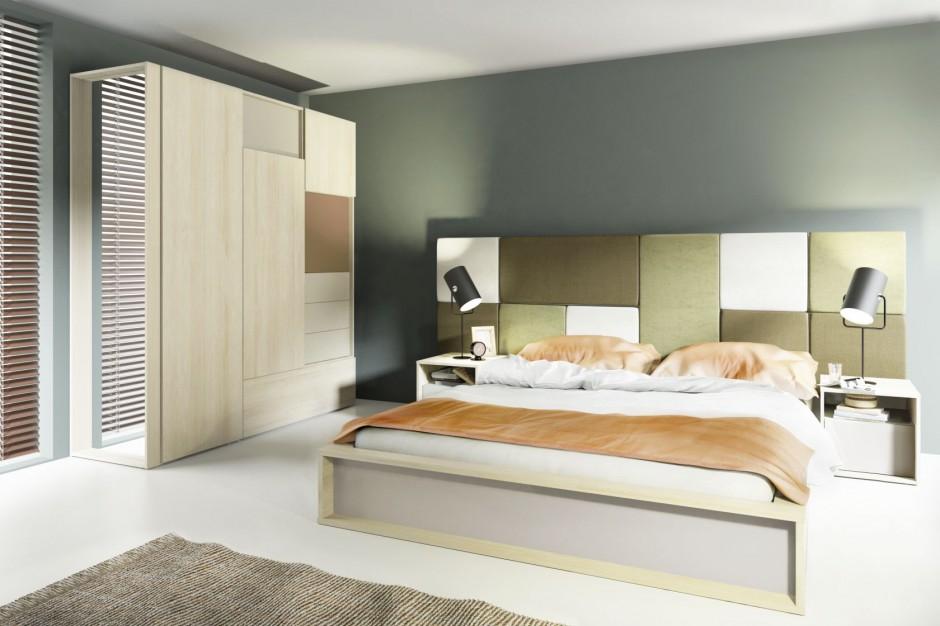 Ciepłe kolory okleiny mebli Nowoczesna sypialnia 12   -> Kuchnia Meble Vox