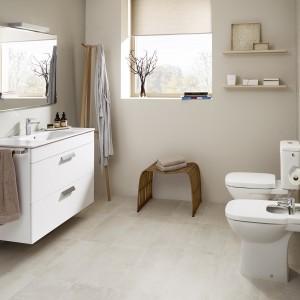 Kolekcja ceramiki i mebli łazienkowych Debba. Szeroka gama rozwiązań pozwala na stworzenie łazienki dopasowanej do naszych potrzeb. Fot. Roca.