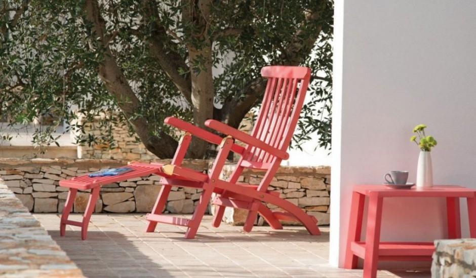 Meble Ogrodowe Drewniane Design : Składane, drewniane krzesło ogrodowe z kolekcji Cruise Red dostępna