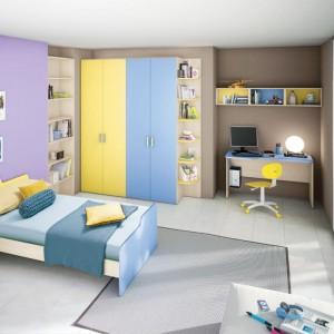 Meble w dwóch kolorach spodobają się szczególnie młodszym nastolatkom. Sprawią, że wnętrze będzie radosne i kolorowe. Fot. Colombini Casa.