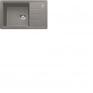 Zlewozmywak 1-komorowy z ociekaczem Franke BSG 611 62 w kolorze kamiennej szarości. Fot. Franke.