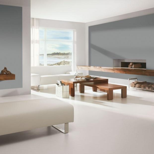 Ściany w salonie. Wybierz modne szarości